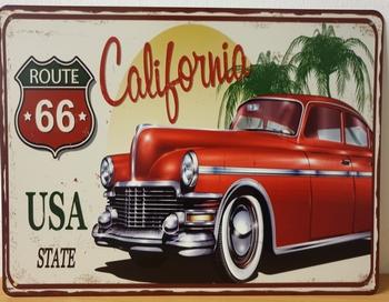 Route 66 usa california metalen wandbord