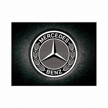 Mercedes zwarte logo magneet