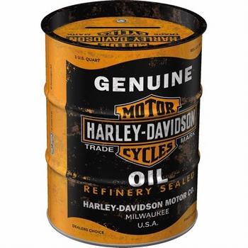 Harley Davidson genuine oil spaarpot oilbarrel