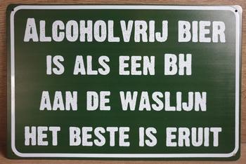 Alcoholvrij Bier als een BH reclamebord metaal