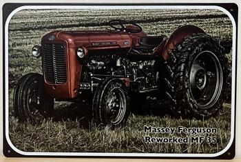 Massey Ferguson Reworked MF35 Reclamebord metaal