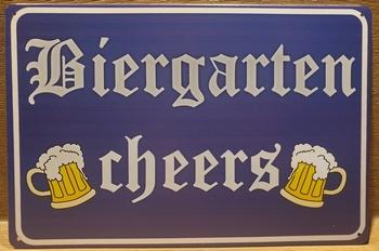 Biergarten Cheers metalen reclamebord