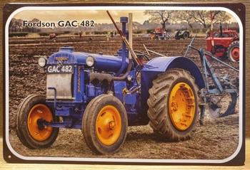 Fordson AC4 tekening Reclamebord metaal