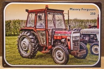 Massey Ferguson 250 cabine tekening Reclamebord metaal