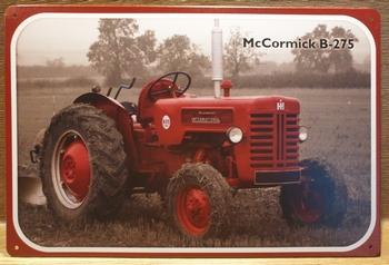 Mc Cormick B-275 reclamebord van metaal