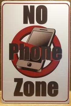 No Phone ZoneReclamebord metaal