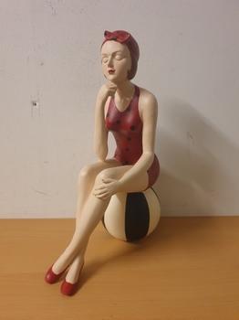 Retro badpak dame vrouw op bal