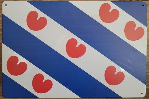 Friese Vlag Friesland reclamebord metaal