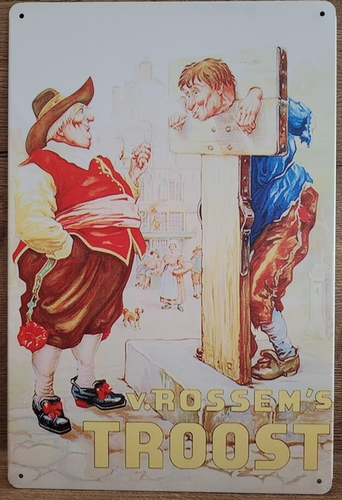 Rookt van Rossem's troost reclamebord van metaal