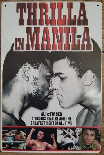 Ali vs Fazier Thrilla in Manila Boksen reclamebord van