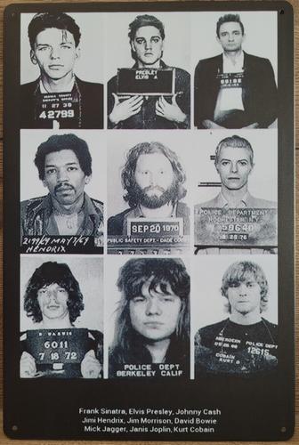 Bad Guys gevangenis foto's beroemdheden metalen reclam