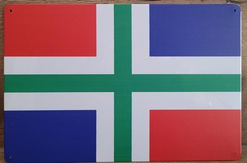 Groningen vlag Provincie metalen reclamebord