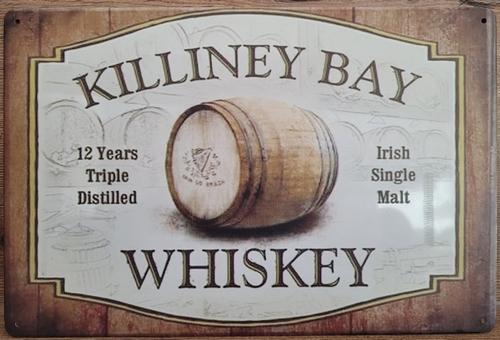 Killiney Bay Whiskey metalen wandbord reclame