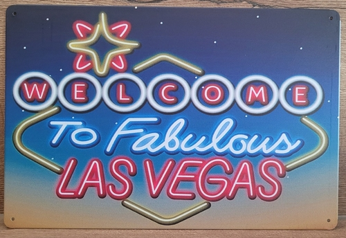 Welcome Las Vegas Neon Stijl  reclamebord van metaal