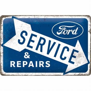 Ford service en repairs metalen relief bord