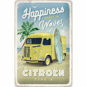 Citroën type H Happines waves metalen reliëf bord