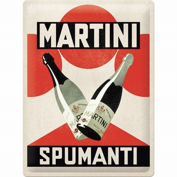Martini Spumanti metalen relief reclame bord