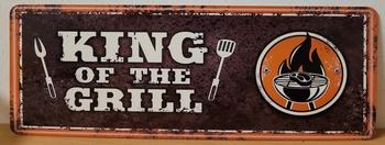 King of the grill metalen wandbord