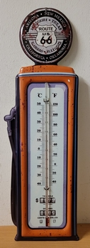 Route 66 XXl metalen thermometer