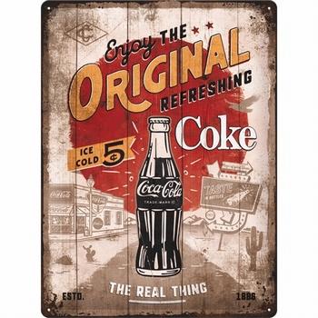 Coca cola original coke highway 66 relief wandbord
