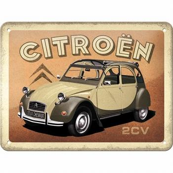 Citroën 2cv metalen reclamebord