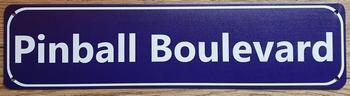 Pinball Boulevard metalen straatnaambord