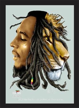 Bob Marley leeuw lion spiegel
