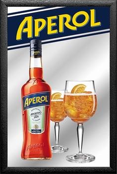 Aperol bottle and glasses spiegel