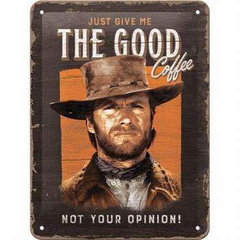 The good coffee metalen wandbord clint eastwood