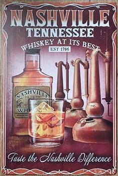 Nashville Tennessee music city USA wandbord metaal
