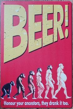 Bier revolutie metalen reclamebord