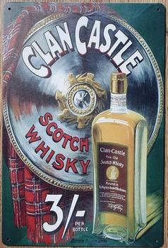 Clan Castle Scotch Whisky metalen reclamebord