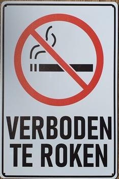 Verboden te roken reclamebord van metaal
