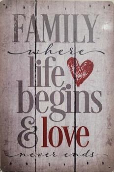 Family were life begins love nerver ends wandbord meta