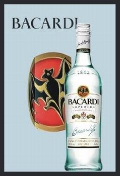 Bacardi fles spiegel
