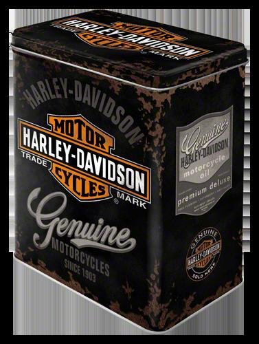 Harley Davidson Genuine voorraadblik metaal  10 x 14 x 20cm