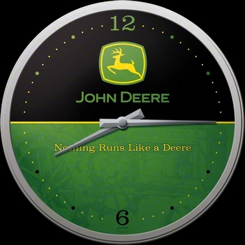 John Deere logo klok  32 cm