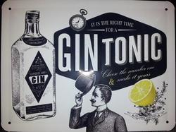 Gin tonic reclamebord met reliëf