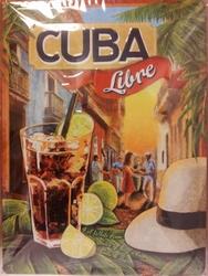 Cuba Libre reclamebord met Reliëf