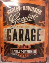 Harley Davidson Genuine garage reliëf