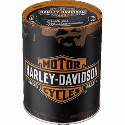 Harley Davidson Genuine logo Metalen Spaarpot  10 x 13 cm