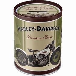 Harley Davidson Knucklehead metalen Spaarpot  10 x 13 cm