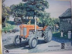 Massey/Ferguson 65 Mark II tractor reclambord metaal