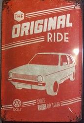 VW Volkswagen origininal ride  Golf reliëf
