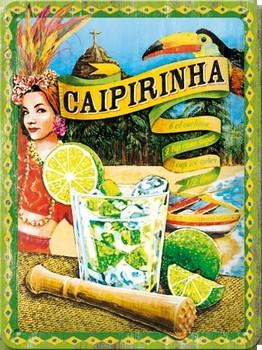 Caipirinha cocktail relief wandbord