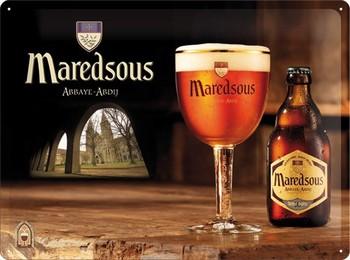 Maredsous bier relief wandbord