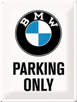 BMW Parking only relief wandbord  40 x 30 cm