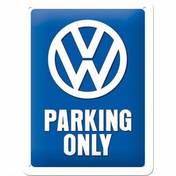 Vw Volkswagen parking only reclamebord van metaal