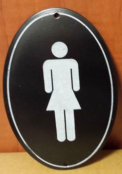 Dames toilet zwart witte rand