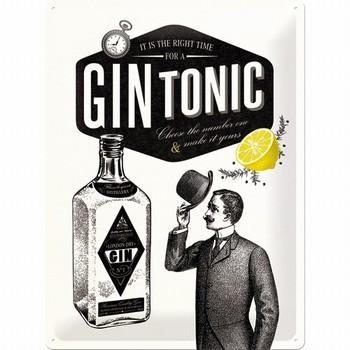 Gin en tonic metalen wandbord
